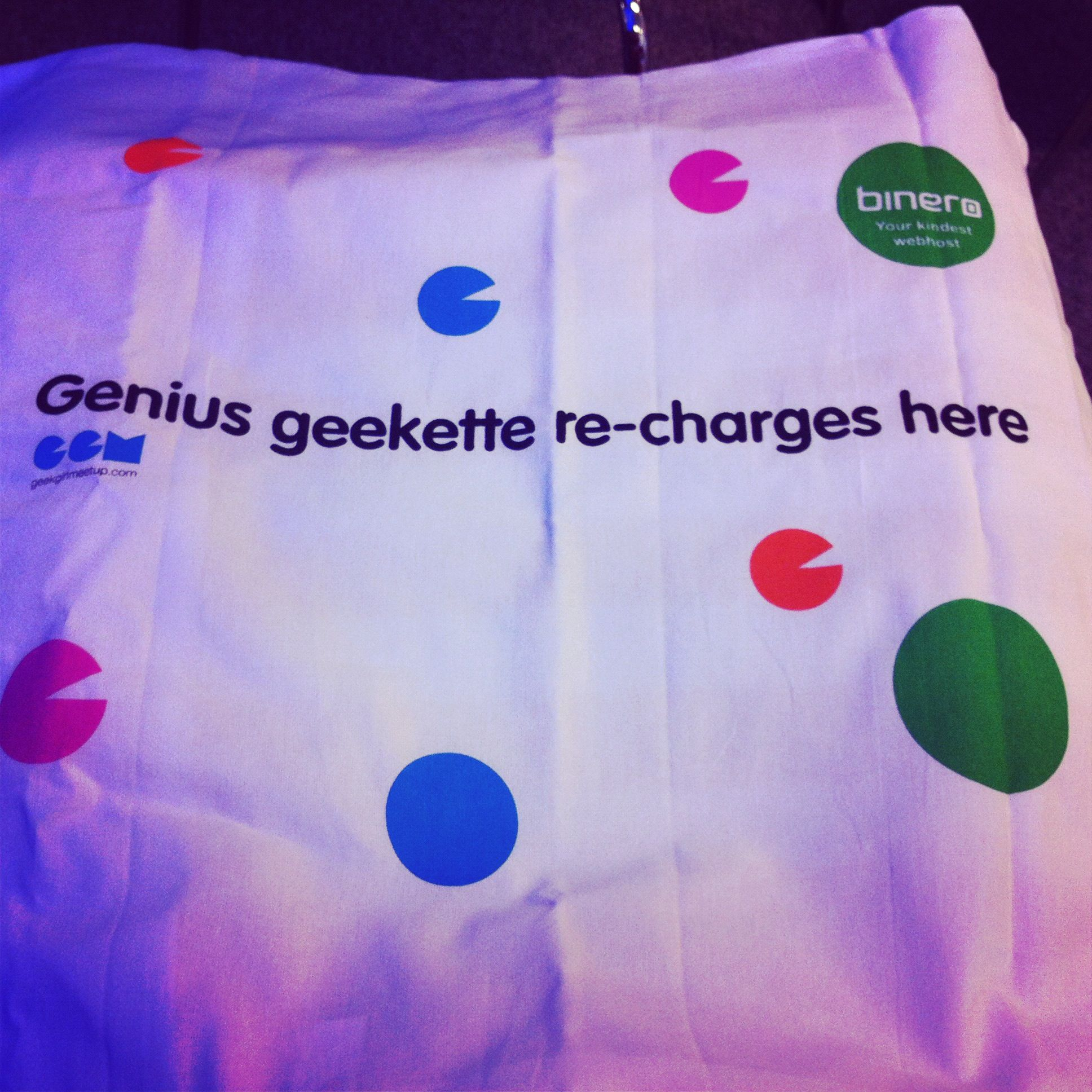 "#GGM12 - ""Genius geekette re-charges here"""